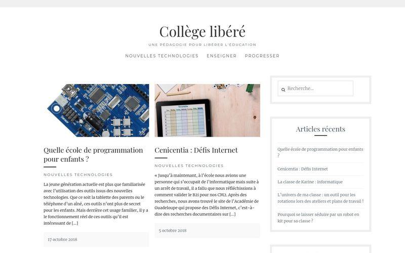 Collège libéré : une pédagogie pour libérer l'éducation